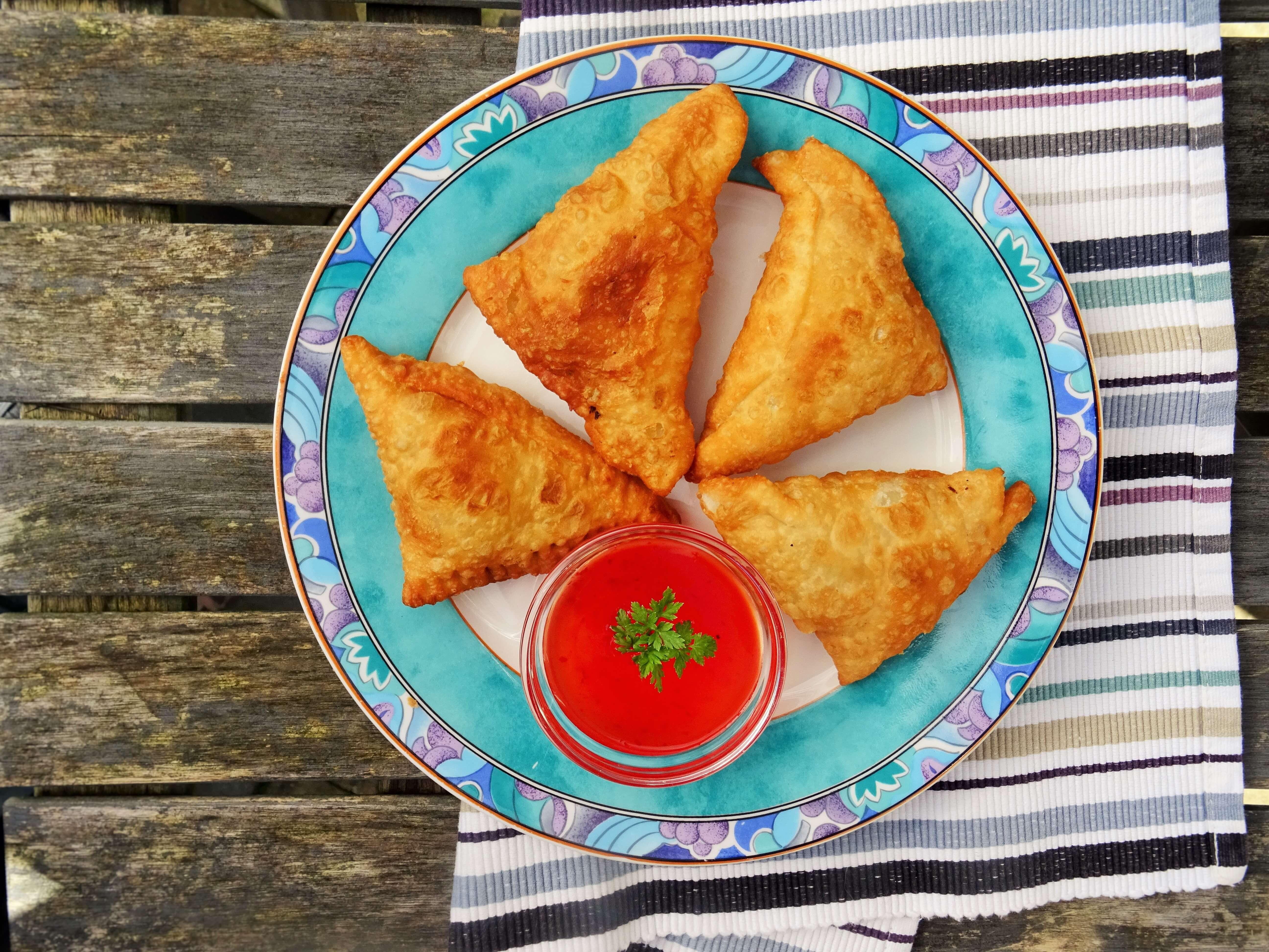 Veganistische samosa's