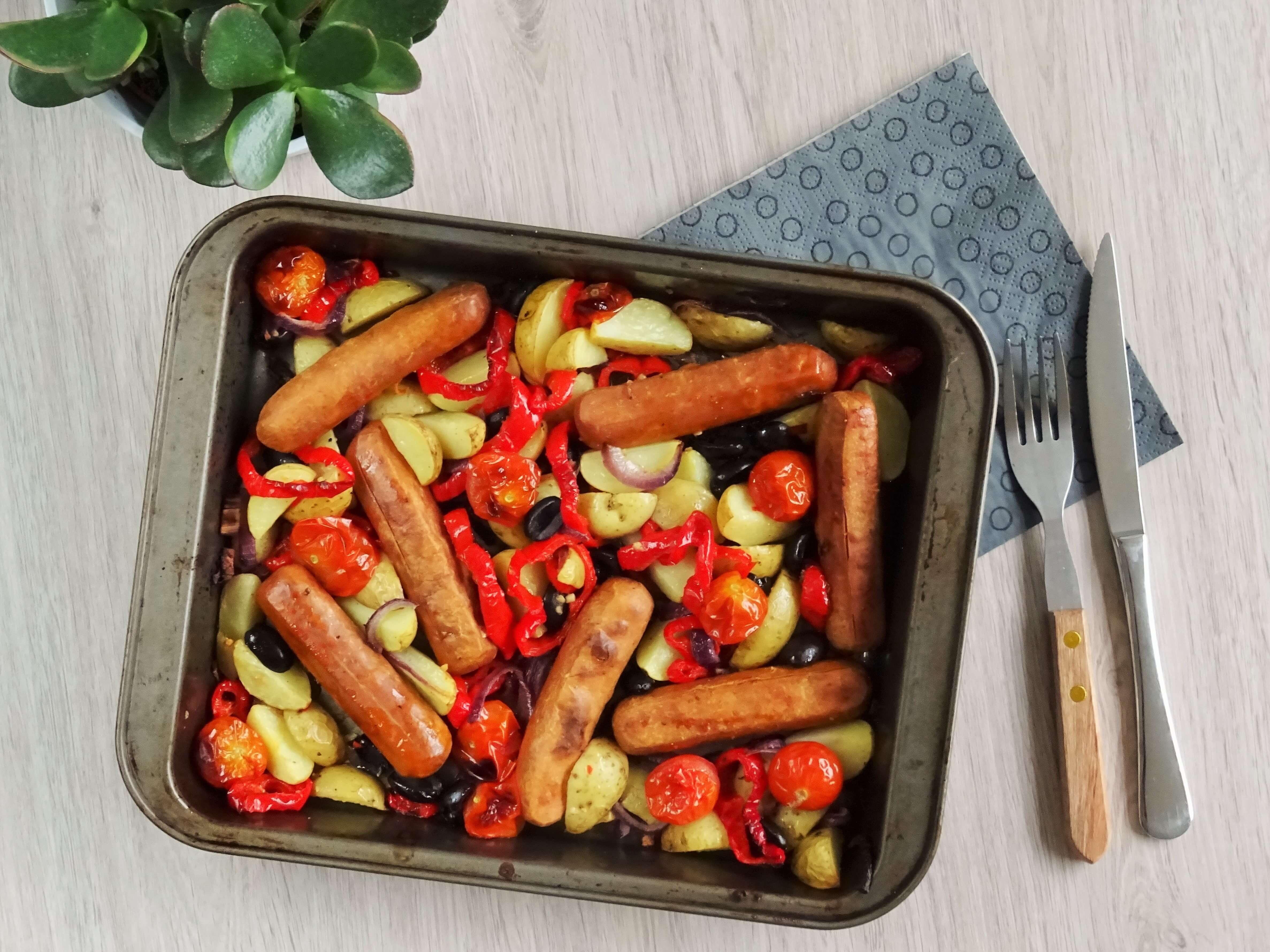 Ovenschotel met toscanini's en groenten